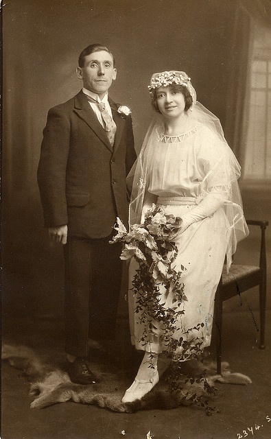 Wedding photograph taken in a photographer's studio by lovedaylemon, via Flickr