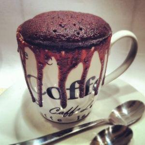 Chokoladekage på 5 min i mikroovn!