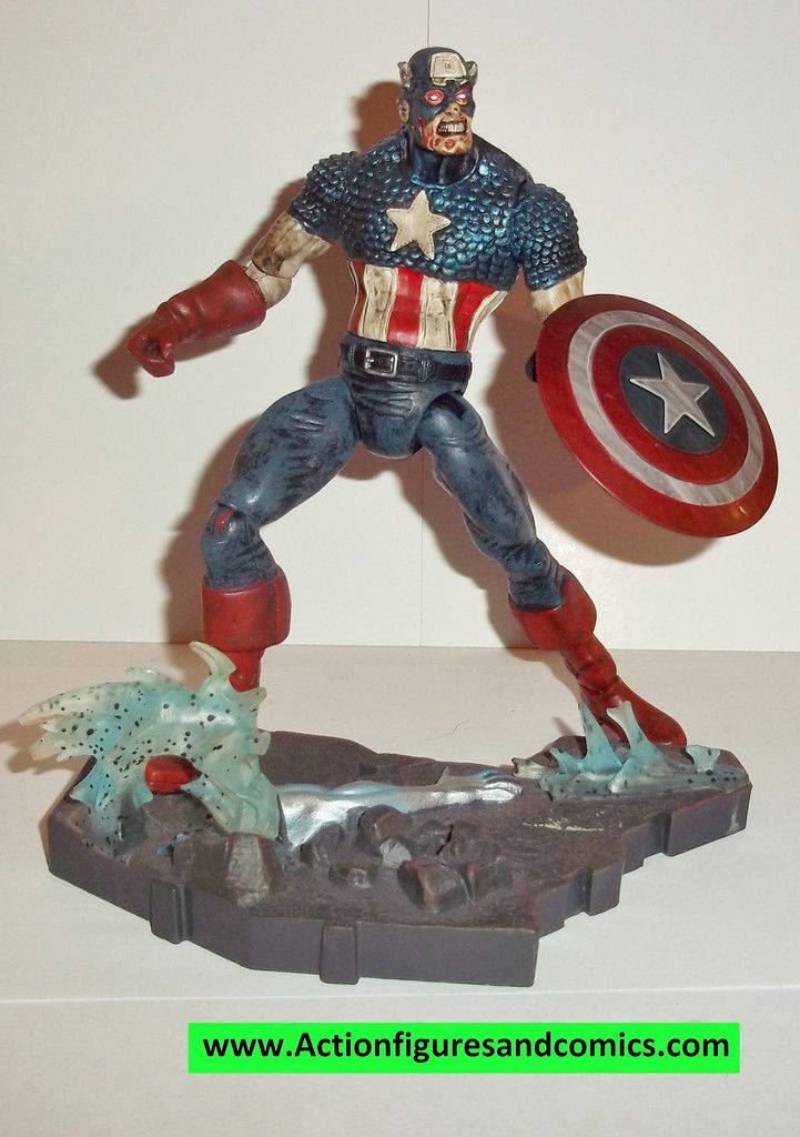 marvel select CAPTAIN AMERICA zombie marvel legends 2007 zombies