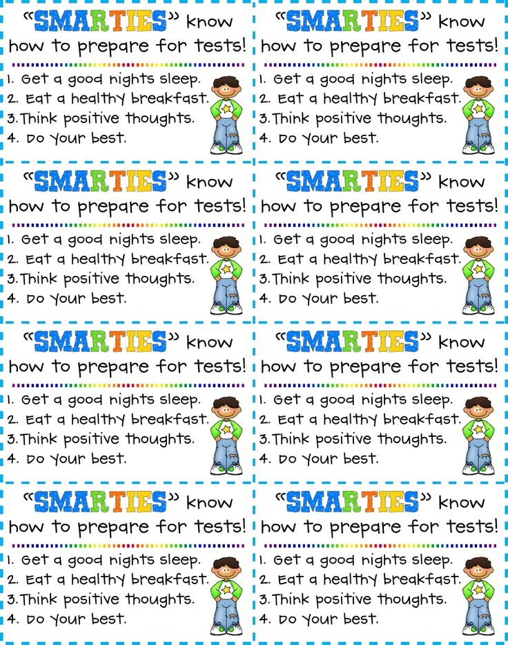 """FREEBIES - 6 different versions of """"Testing Treats"""" - great for take home treat day before testing begins"""