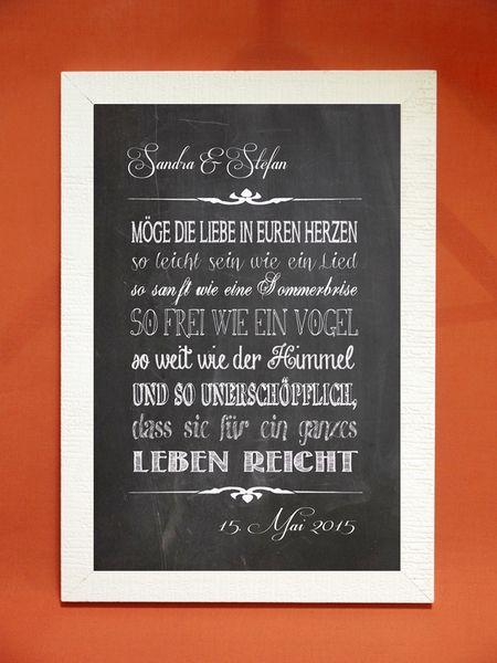 Kunstdruck Segenswunsch zur Hochzeit von Foto-Design & Digital-Art auf DaWanda.com