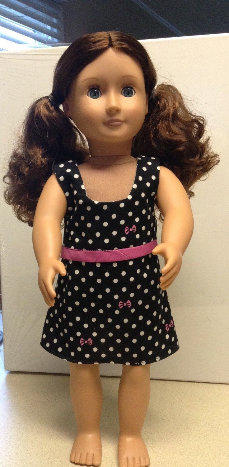 A personal favorite from my Etsy shop https://www.etsy.com/listing/272477330/black-spring-dress-american-girl-dolls