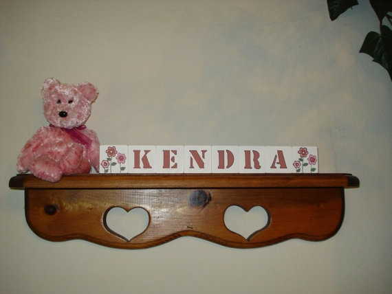 Baby Blocks Kendra Rose Pink Free Shipping in by woodblocks4you, $23.95