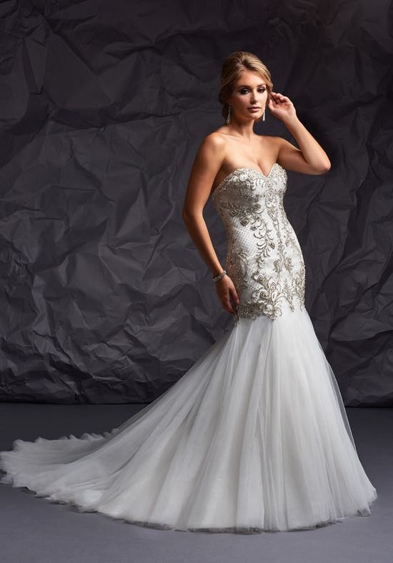 Mermaid wedding dress with beading and sweetheart neckline | Essence Collection by Bonny Bridal 8708 | http://trib.al/Ag7gsSx