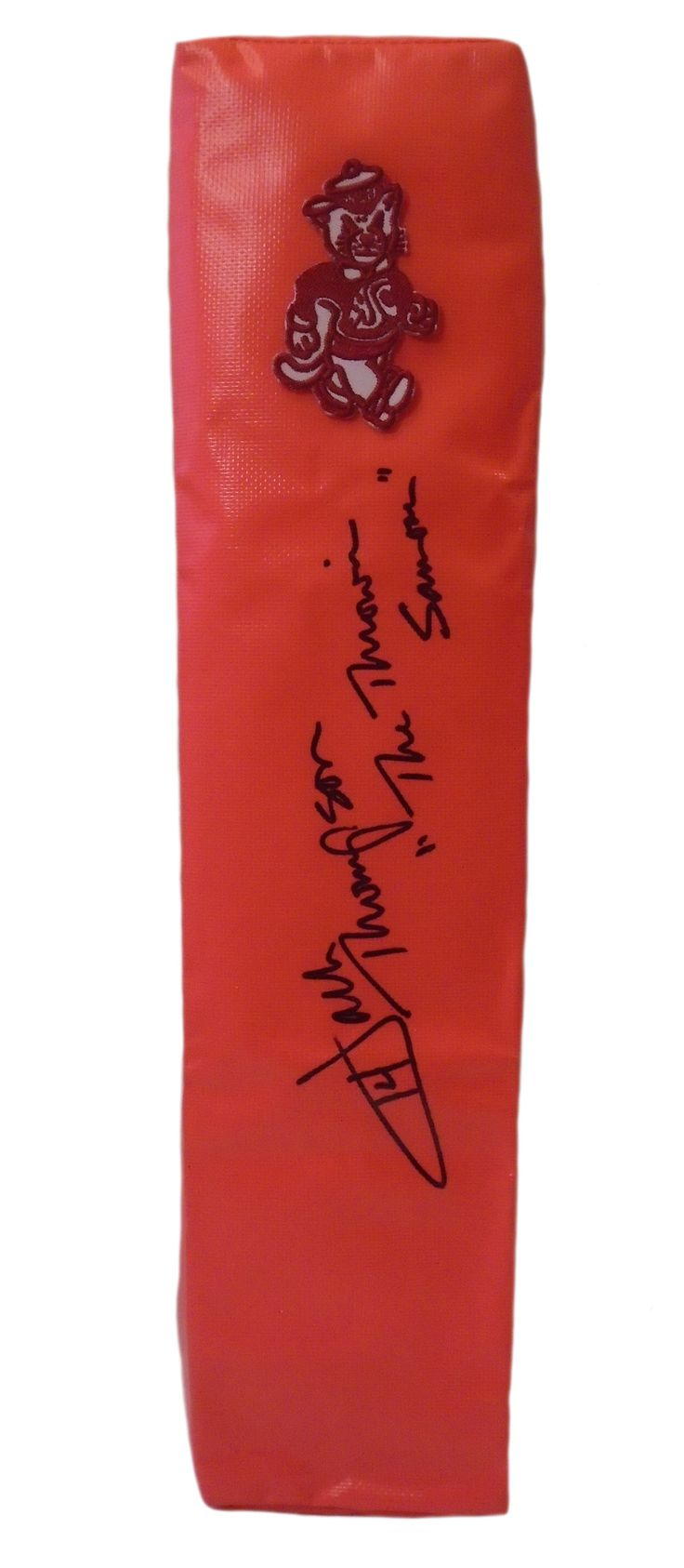Jack Thompson signed Washington State Cougars full size football touchdown end zone pylon w/ proof photo.  Proof photo of Jack signing will be included with your purchase along with a COA issued from Southwestconnection-Memorabilia, guaranteeing the item to pass authentication services from PSA/DNA or JSA. Free USPS shipping. www.AutographedwithProof.com is your one stop for autographed collectibles from WSU Cougars & NCAA teams. Check back with us often, as we are always obtaining new…