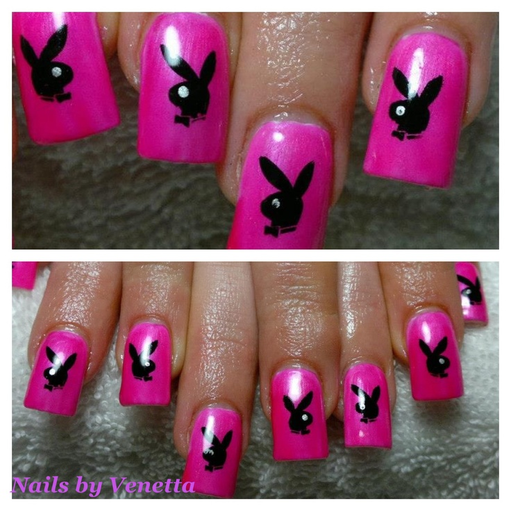 8 best Playboy Bunny Nail Designs images on Pinterest