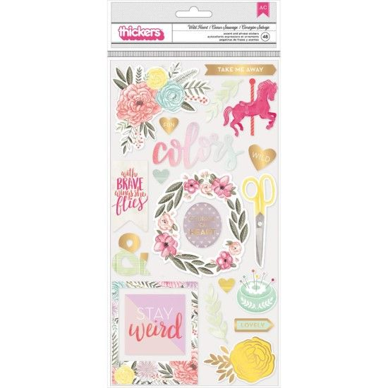 Pink Paislee Take Me Away - Wildheart Chipboard Thickers Phrases