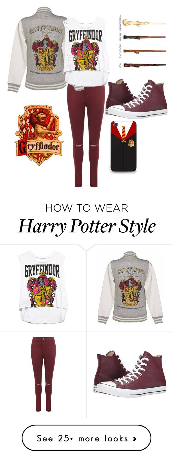 """i'm a wizard..."" by sammillerlucas on Polyvore featuring WearAll, Forever 21 and Converse"