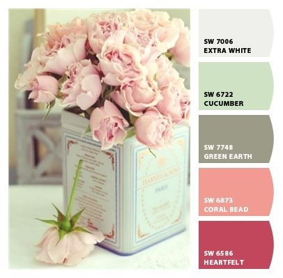 soft and simple dainty sweet cute girlie palette party shower birthday bedroom countryside provencial shabby chic craft room office guest room kitchen girls nursery teen mother sister Paint colors from #ChipIt! by #Sherwin-Williams #colorsnap