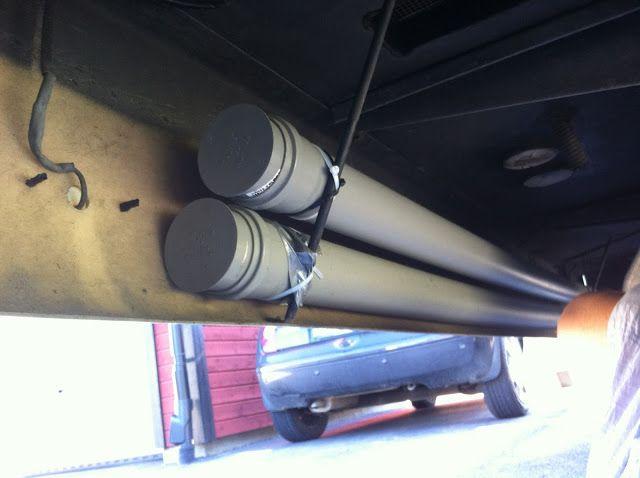 Sanna's RV life-Sannas husbilsliv: #11 Sewer hose storage-Förvaring av slangen för tö...