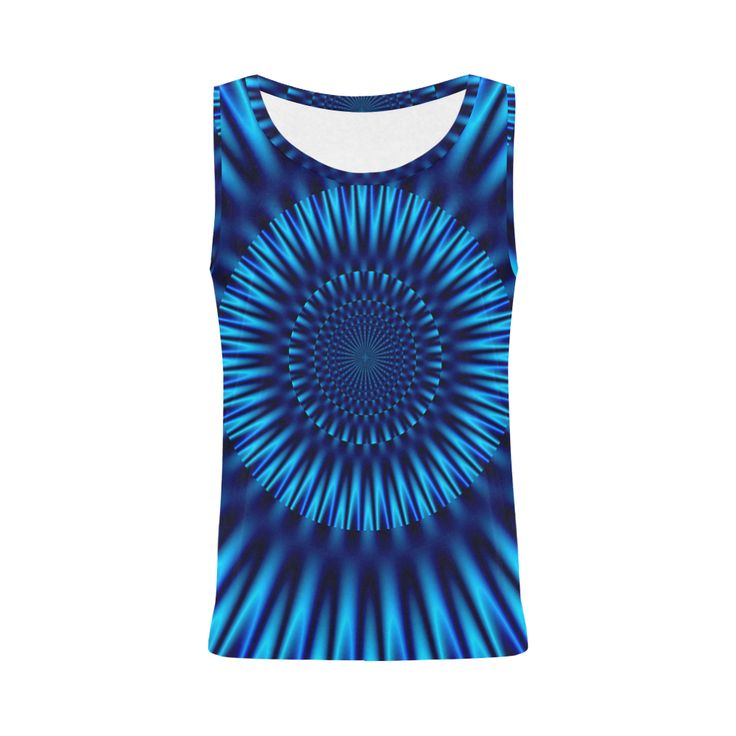 Blue Lagoon All Over Print Tank Top for Women (Model T43)