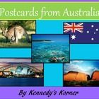FREEBIE Postcard template to use with your Australia unit.    Students will love writing to someone to tell them everything they know about Australi...