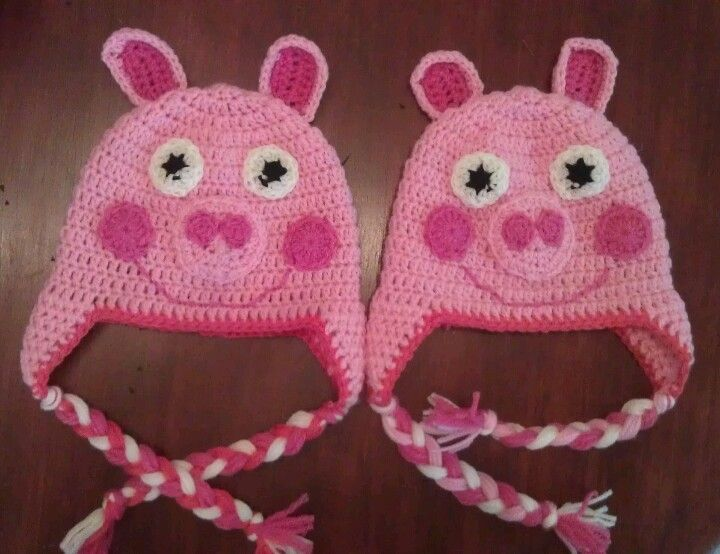 Crochet Pattern Pig Hat : 1000+ images about Peppa on Pinterest English, Crochet ...