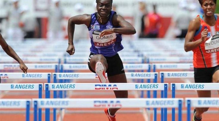 Sandra Gomis 110m haies. La Nazairienne a laissé filer son titre sur l'ultime obstacle, laissant filer Alice Decaux (Ivry) vers le succès.Tout