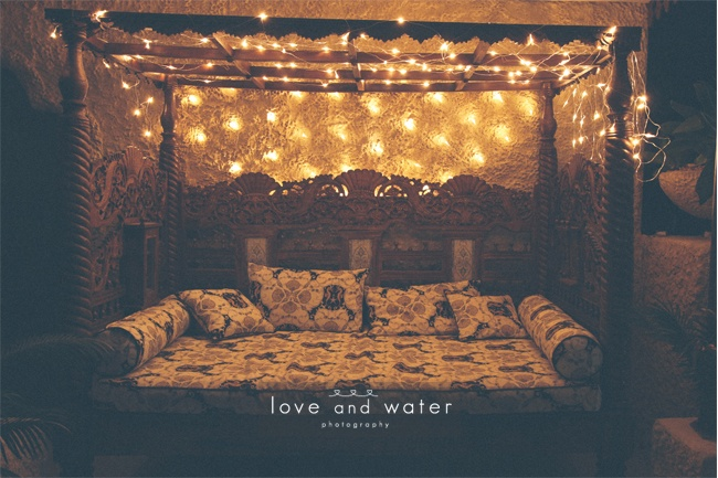Our signature Balinese daybed with fairylights... the perfect chill out area.
