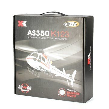 XK K123 6CH Brushless AS350 Scale RC Helicopter RTF Mode 2 Sale - Banggood.com