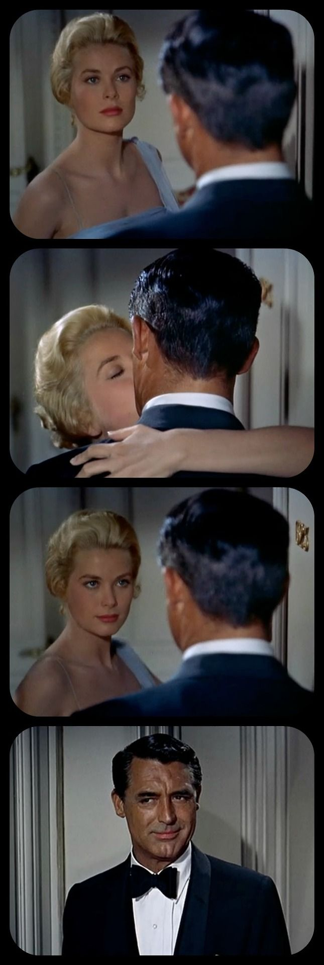 Grace Kelly and Cary Grant inTo Catch a Thief1955 My favorite scene in this film. The look on that face... I think he's the only actor who can make that gesture.