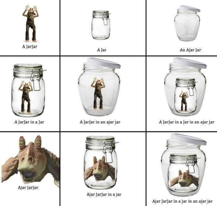 Possibly the best thing about Jarjar Binks