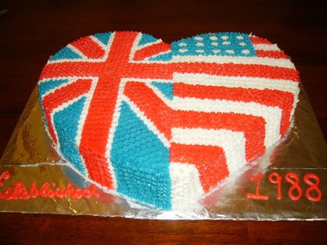 british american flag  Cake