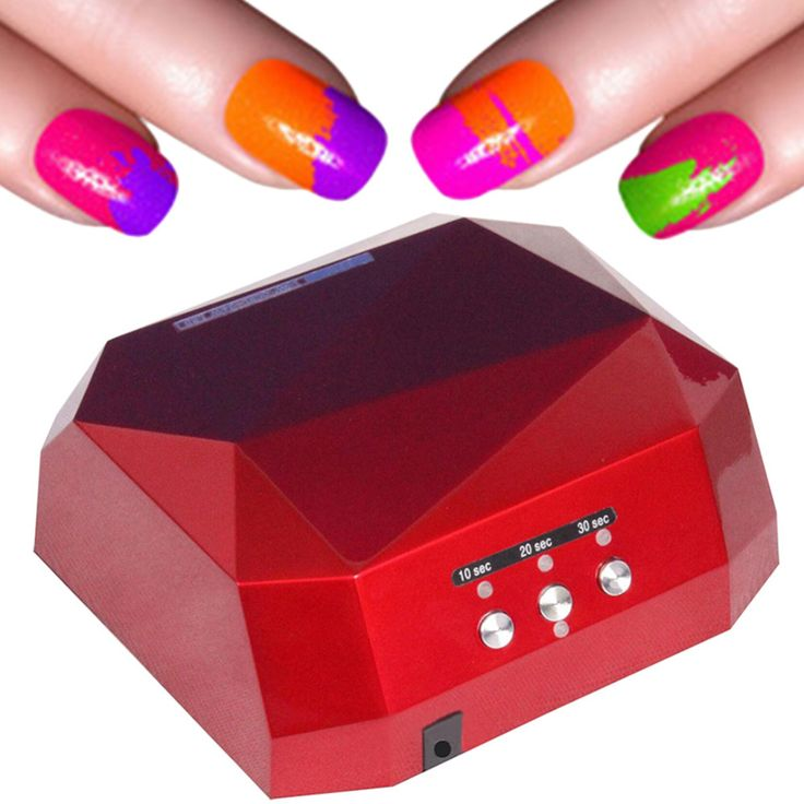 New  Colour Diamond Shape W Auto UV LED Lamp Dryer Curing for DIY Gel Nail Polish