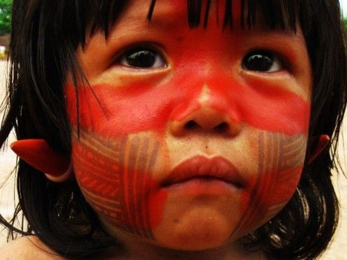 ...: Indigenous Faces, Brazil, Children, World, Children, People