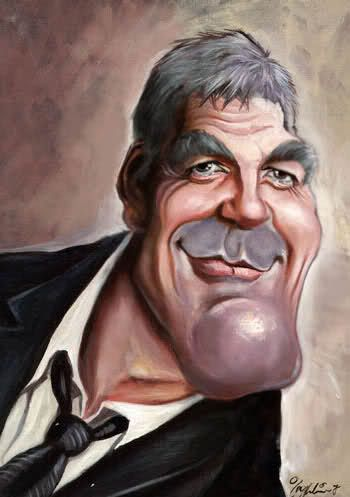 #Caricature: George Clooney - http://dunway.com/