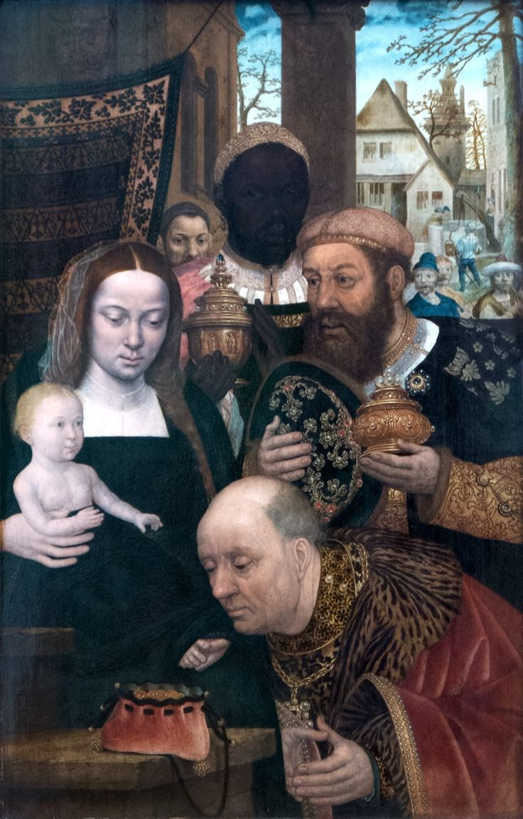 Adoration Of The Magiherlands (c 1520) Gem�ldegalerie, Staatliche  Museen, Berlin