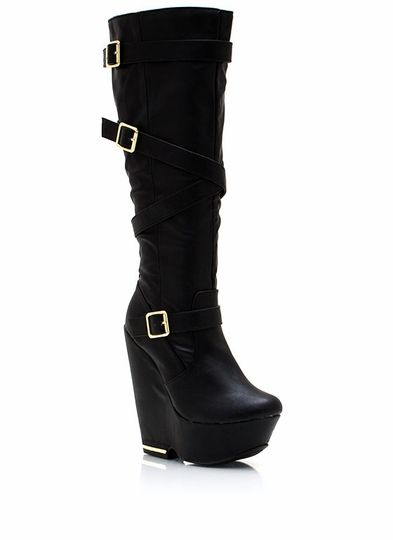 Strap It Up Wedge Boots