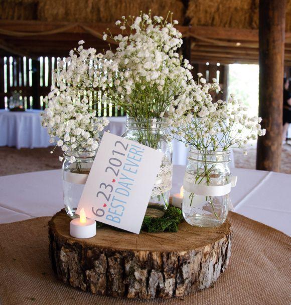 Wedding Decorations Using Mason Jars 48 Best Mason Jar Centerpieces Images On Pinterest  Rustic