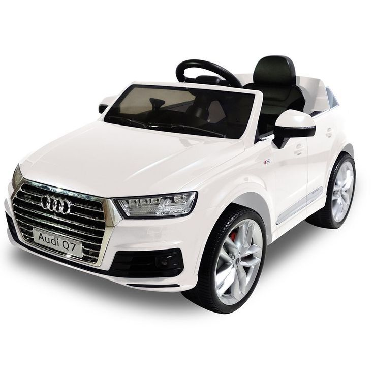 Awesome Audi: Audi Q7 6V One Seater Ride-On by Kid Motorz, White...  Products Check more at http://24car.top/2017/2017/07/21/audi-audi-q7-6v-one-seater-ride-on-by-kid-motorz-white-products/