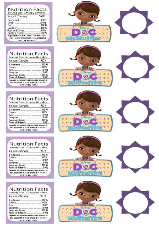 It's just a graphic of Ridiculous Doc Mcstuffins Printable Labels