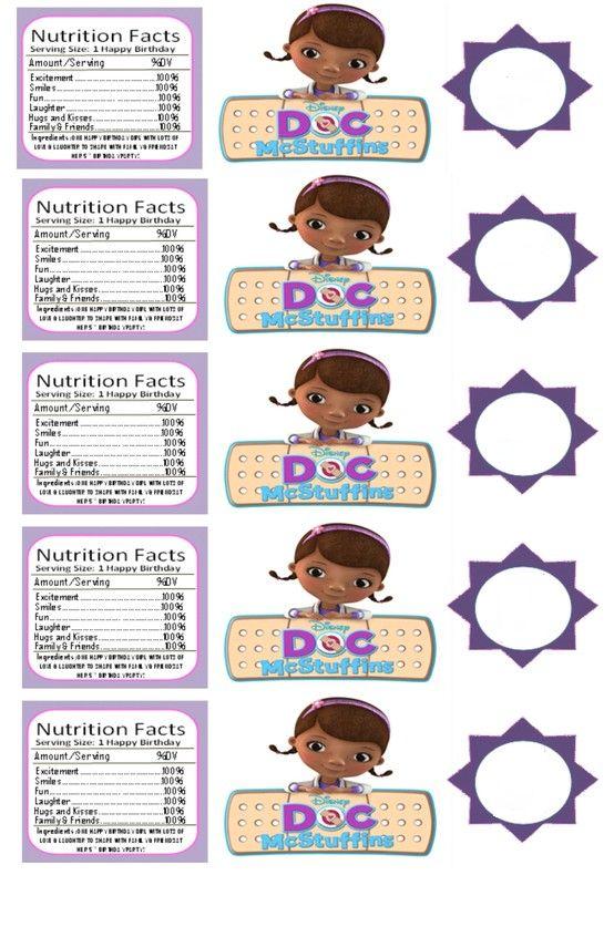 Doc mcstuffins waterbottle printables | Doc Mcstuffins ...