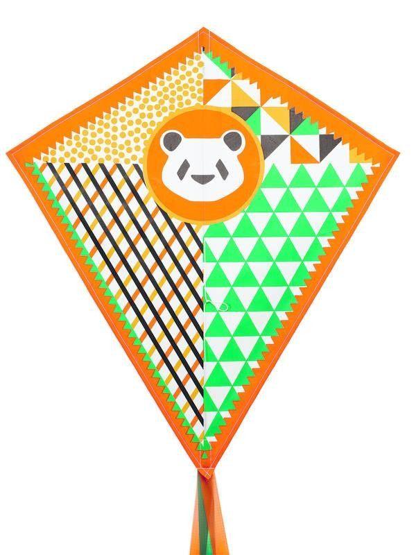Djeco : Cerf volant / Panda orangé (corde incluse) - Castello   Jeux et Jouets