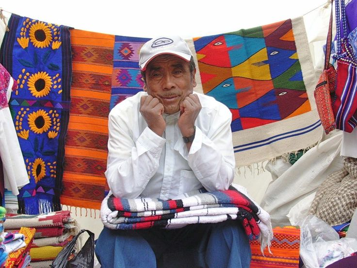 Market-Bored textile vendor