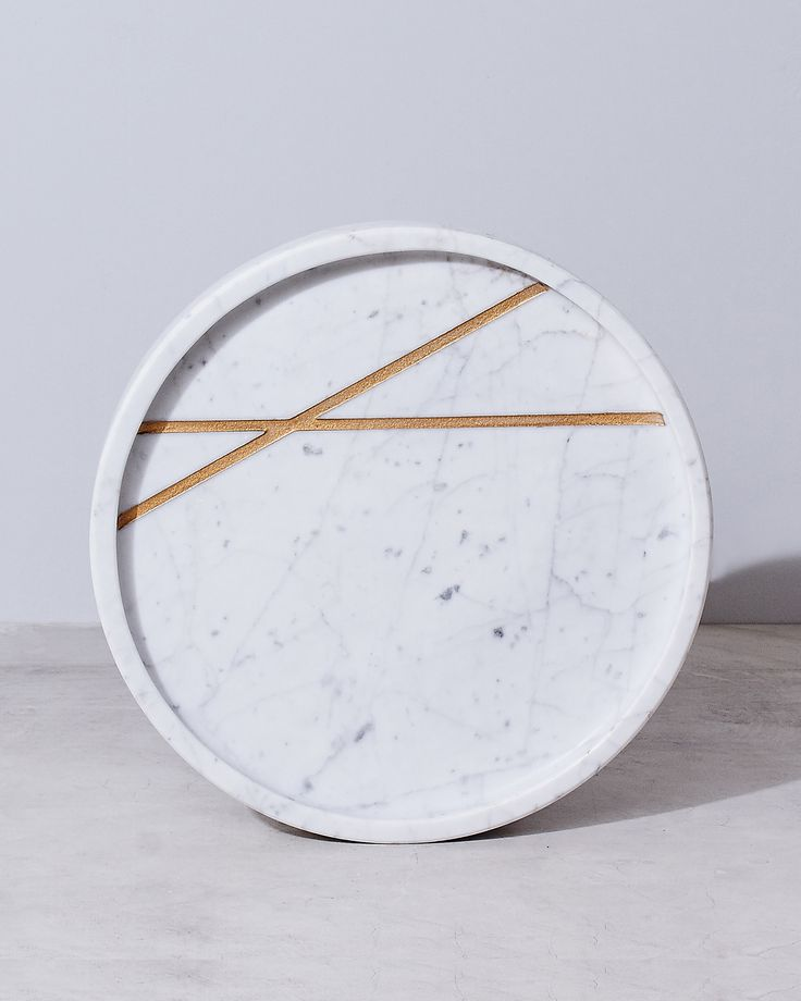 Round Marble Tray - $175
