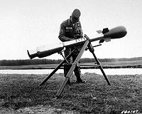 M-29 Davy Crockett Nuclear armed Recoilless Rifle. One gun I don't want to shoot.