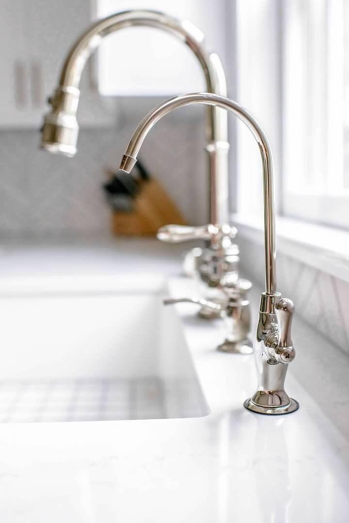 Polished Nickel Kitchen Sink Hardware Kohler Artifacts Faucet Four Sink Holes Water Dispenser Soap Dispenser Polished Nickel Sink Hardware