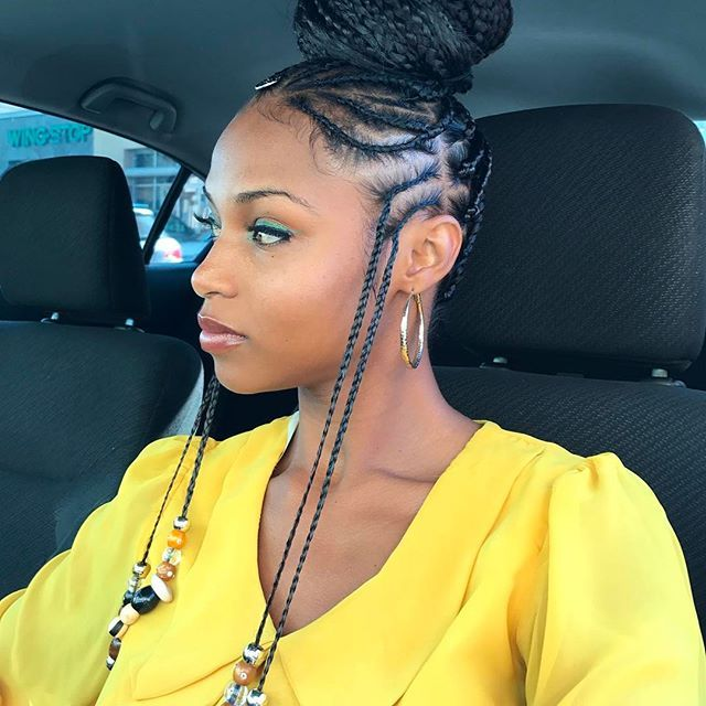 "Tapping into my roots with this #protectivestyle I used @rastafribraid ""my expert 24"" pre separated kanekalon hair"
