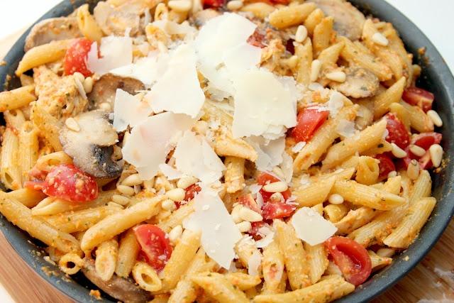 roasted red pepper pesto penne | Food | Pinterest