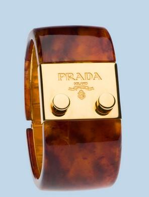 Prada ~ Tortoise & gold bangle