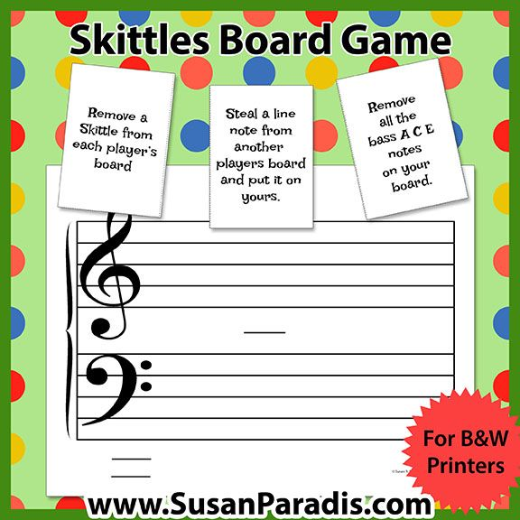 Skittles Staff Game | Music group lessons | Group lesson ideas | Free piano games
