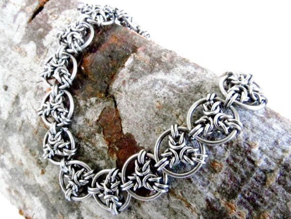 Chainmaille Bracelet Angel Byzantine от ChainmailleByBim на Etsy