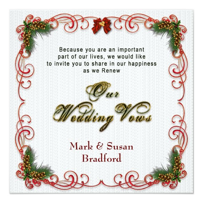 2145 best christmas wedding invitations images on pinterest christmasholiday wedding renewing vows invitation stopboris Image collections