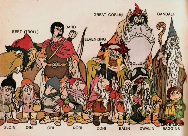 The Hobbit (1977) - Troll, Elven king, Great Goblin, Gandalf, Bagginses, and Company of Dwarves