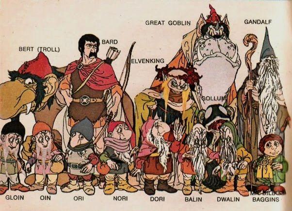 The Hobbit (1977) - Troll, Elven king, Great Goblin ...
