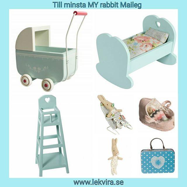 Mysigt blått till de minsta små baby mössen och My babykaninerna från Maileg.  www.lekvira.se  #lekvira #maileg #mailegkanin #mailegmöbler #mailegmöss #myrabbit #mailegsverige