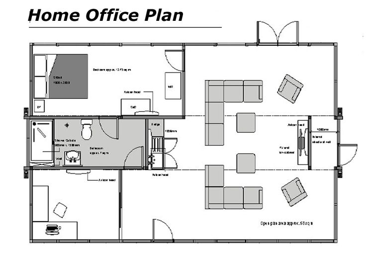 Home office floor plans home office floor plans dream for Office space floor plan creator