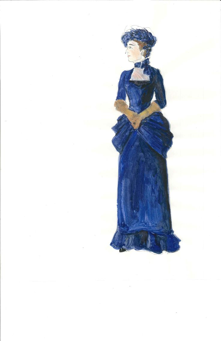 Meg Neville's costume sketch of Mrs. Erlynne, Act 4