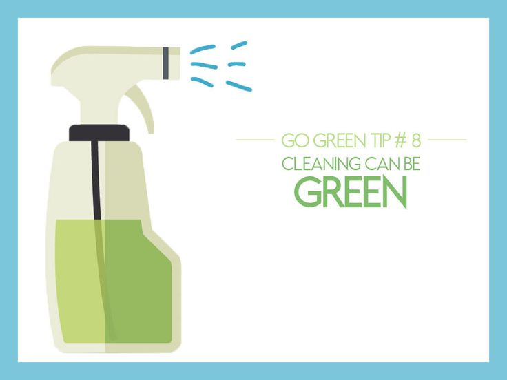 #GoGreen Tip #8: Cleaning Can Be Green - Many of the cleaning products sold and used today are filled with chemicals damaging to the environment. You can buck the trend by using non-toxic cleaning materials such as backing soda, vinegar, soap, and lemon.
