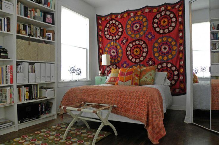 Оформление спальни в стиле бохо